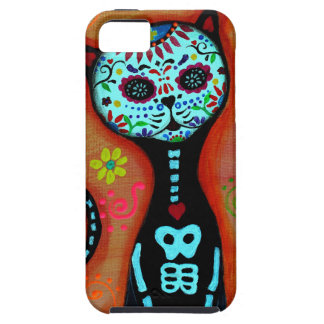 EL GATO DIA DE LOS MUERTOS CAT PAINTING iPhone 5 CASES