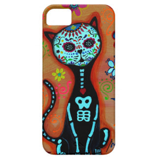 EL GATO DIA DE LOS MUERTOS CAT PAINTING iPhone 5 COVER
