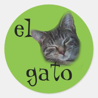 el gato Spanish Sticker