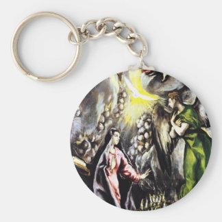 El Greco Annunciation Virgin Mary Key Chain