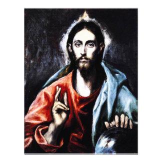 El Greco Christ Blessing Invitations