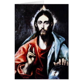 El Greco Christ Blessing Note Card