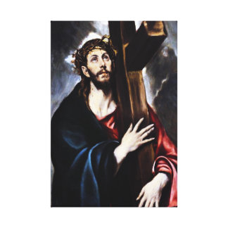 El Greco Christ Carrying The Cross Canvas Wrap Canvas Print