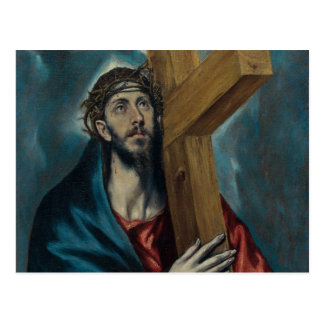 El Greco - Christ Carrying the Cross Postcard