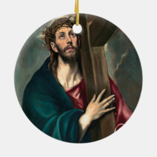 El Greco Christ Carrying the Cross Round Ceramic Decoration