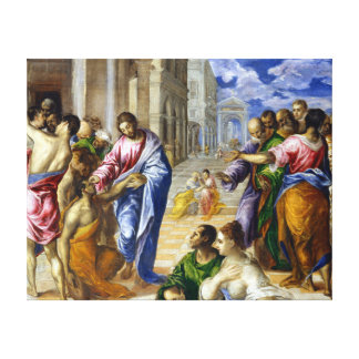 El Greco Christ Healing the Blind Canvas Print