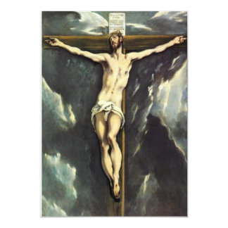 El Greco Christ On The Cross Invitations