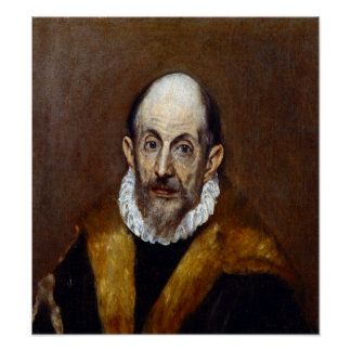 El Greco Portrait of an Old Man Poster