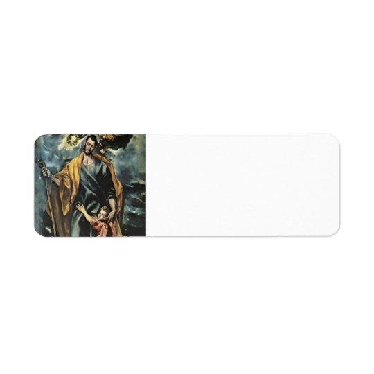 El Greco- St. Joseph and the Christ Child Return Address Label