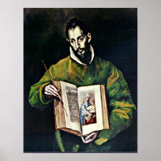 El Greco - St Luke as painter Poster