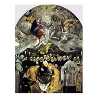 El Greco- The Burial of the Count of Orgaz Postcard