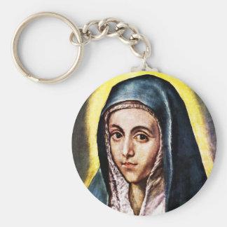 El Greco Virgin Mary Key Chain