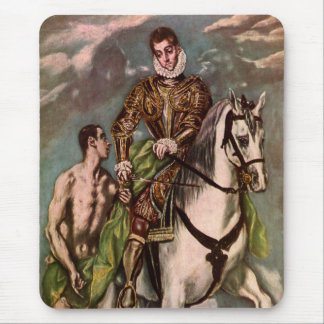 El Greco's Saint Martin and the Beggar, circa 1600 Mouse Pad