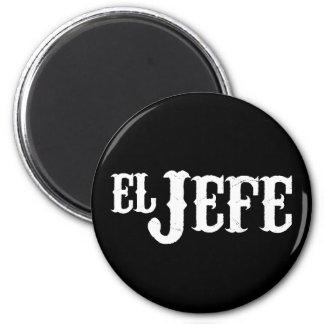 El Jefe Translation The Boss 6 Cm Round Magnet