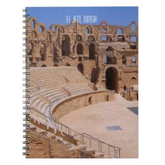 El Jem Roman Gladiator Amphitheatre Ruins Tunisia Notebook
