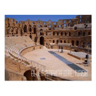 El Jem Roman Gladiator Amphitheatre Ruins Tunisia Postcard