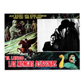 El Latigo Contras Las Momias Asesinas Postcard