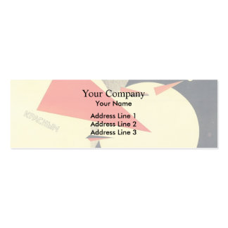 El Lissitzky- Beat the Whites with the Red Wedge Business Card Template