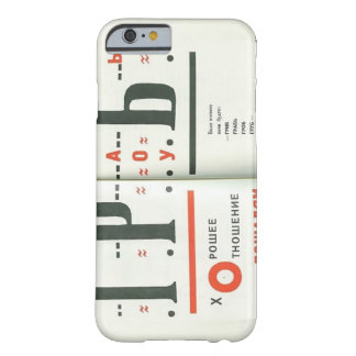 El Lissitzky- Illustration to 'For the voice' Barely There iPhone 6 Case