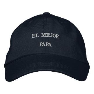 EL MEJOR PAPA HAT EMBROIDERED BASEBALL CAPS