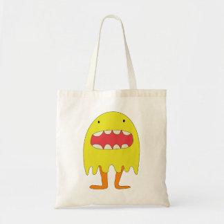 El monstruo amarillo ríe =) tote bag