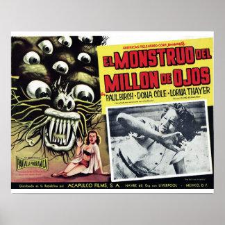 El Monstruo Del Million De Ojos  Poster