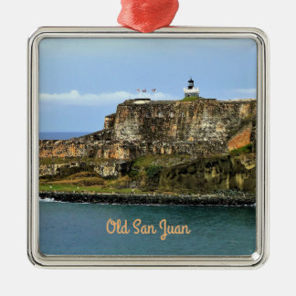 El Morro Guarding San Juan Bay Custom Metal Ornament