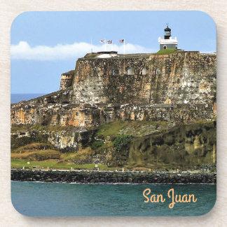 El Morro Guarding San Juan Bay Entrance Coaster