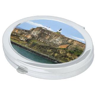 El Morro Guarding San Juan Bay Entrance Compact Mirror