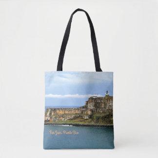 El Morro Guarding San Juan Bay Entrance Custom Tote Bag