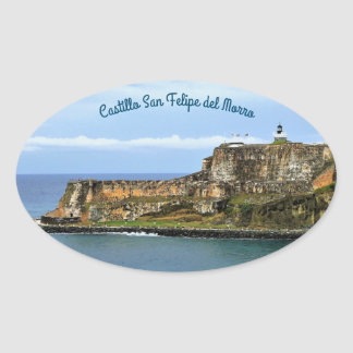El Morro Guarding San Juan Bay Entrance Oval Sticker