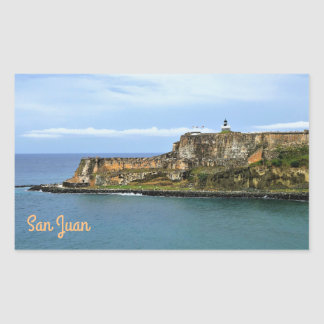 El Morro Guarding San Juan Bay Entrance Rectangular Sticker