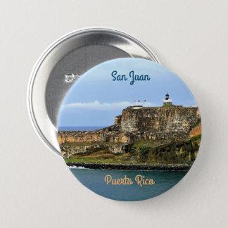 El Morro Guarding San Juan Bay Puerto Rico 7.5 Cm Round Badge