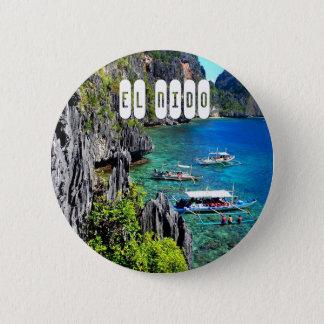 El Nido in Palawan 6 Cm Round Badge