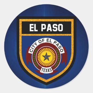 El Paso  Flag Classic Round Sticker