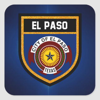 El Paso  Flag Square Sticker