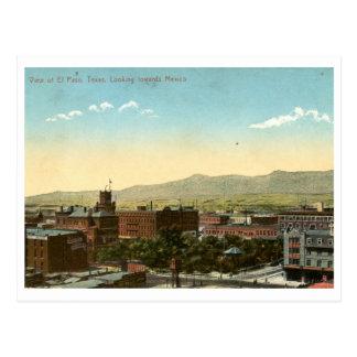 El Paso, Texas 1909 Vintage Postcard