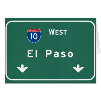 El Paso Texas tx Interstate Highway Freeway Road : Card