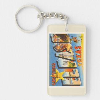 El Paso Texas TX Old Vintage Travel Souvenir Key Ring
