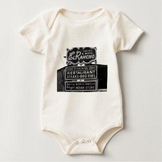 El Rancho Hotel Sign Baby Bodysuit