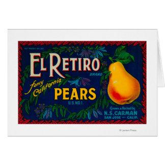 El Retiro Pear Crate Label Card