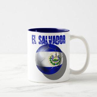 El salvador 2014 Brasil Futbol Cuscatlecos Two-Tone Coffee Mug