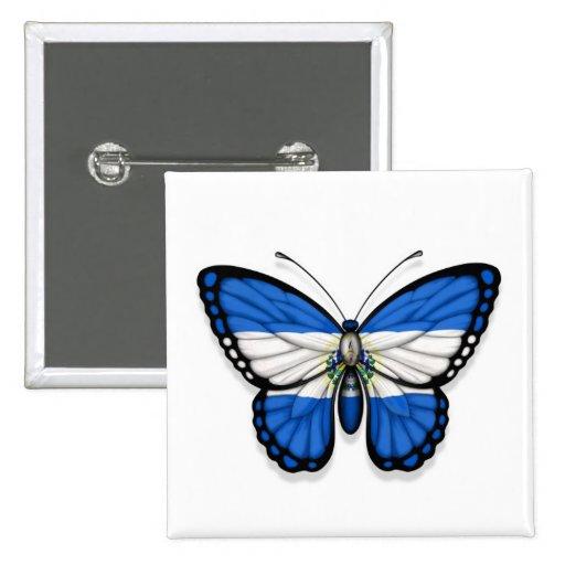 El Salvador Butterfly Flag Pins