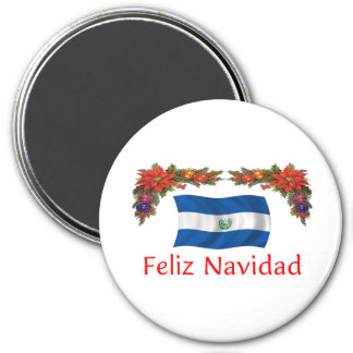 El Salvador Christmas 7.5 Cm Round Magnet