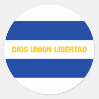 El Salvador Civil Ensign Round Stickers