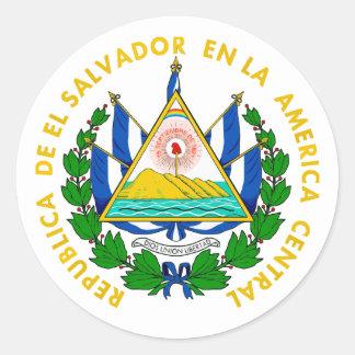 El Salvador COA Round Stickers