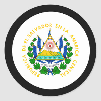 El Salvador Coat of Arms Round Sticker