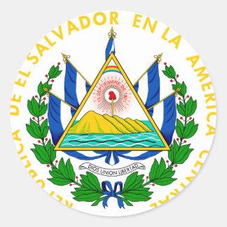 El Salvador Coat of arms SV Round Sticker