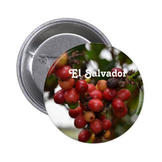 El Salvador Coffee Beans Buttons