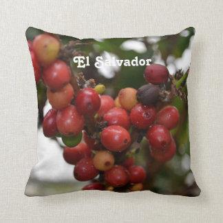 El Salvador Coffee Beans Throw Pillow
